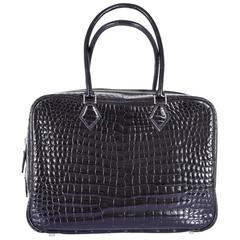 Hermes Limited Edition Plume Crocodile Black Porosus Bag 32cm JaneFinds