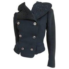 Early 1900s Applique Wool Jacket