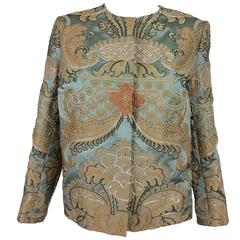 Exquisite custom made French Silk applliqued & embroidered jacket 1960s