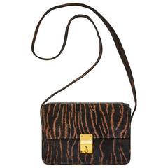 Maud Frizon Animal Print Suede Box Bag