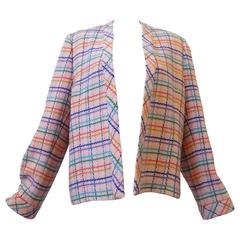 "1980s Valentino Pastel"" Rainbow"" Tweed Jacket"