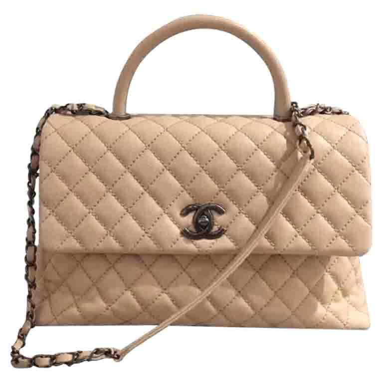 chanel coco handle caviar medium bag at 1stdibs