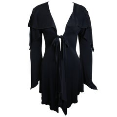 Vintage 90s Moschino Couture Black Mid Length Cardigan