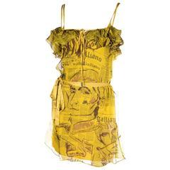 John Galliano Newspaper Print Dress