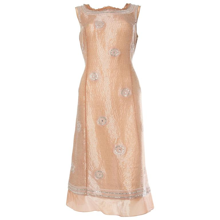 Alberta Ferretti Fully Beaded Modernist Dress