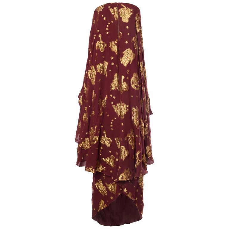 Jean Paul Gaultier Golden Astrology Skirt Dress For Sale