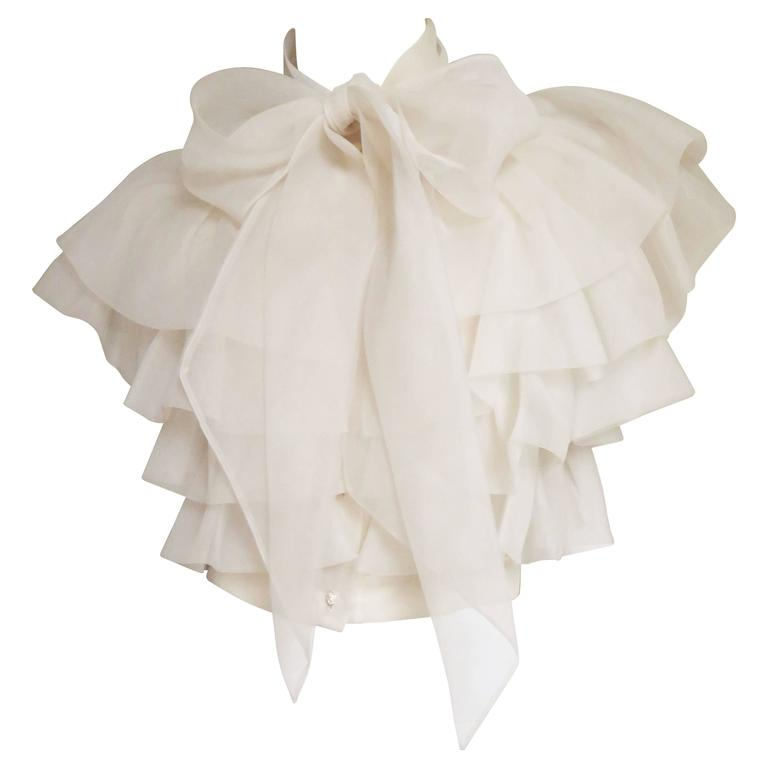 Ethereal 1960's Ruffle Blouse 1