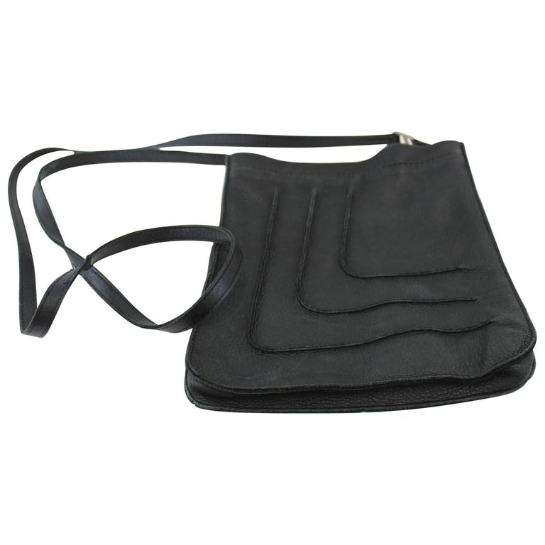 Hermès Toudou Black Crossbody Bag in Lambskin