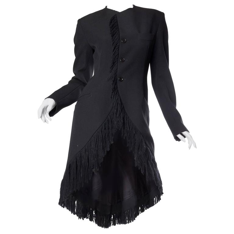 Yohji Yammamoto 1980s Tailcoat with Fringe