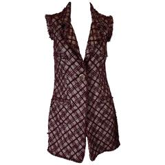Chanel Houndstooth Sleeveless Jacket, 2008