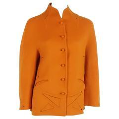 Chado Ralph Rucci Orange Cashmere Cutout Jacket - 6