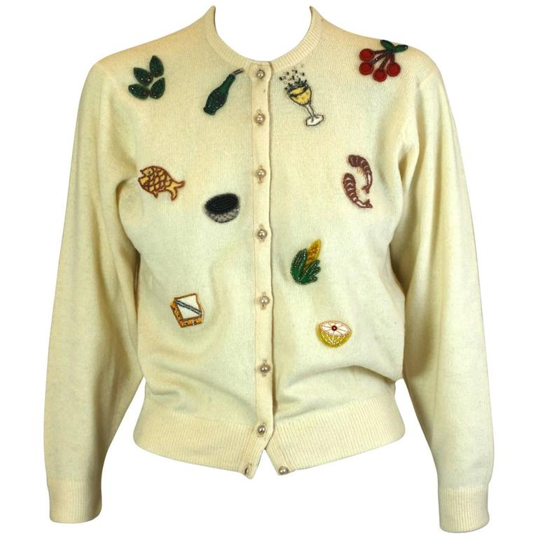"""1950's """"Cocktail Hour"""" Cardigan"""