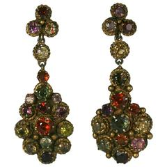 Antique Indian Gemstone Earrings