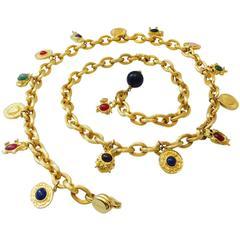 Judith Leiber Chain Charm Belt