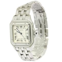 Cartier Panthere Datejust Stainless Steel Chain Link Mid Size Watch in Box