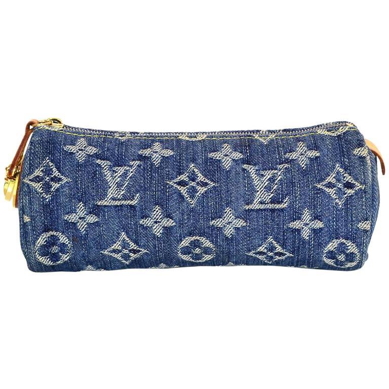 Louis Vuitton Denim Bag >> Louis Vuitton Monogram Denim Pouch Bag