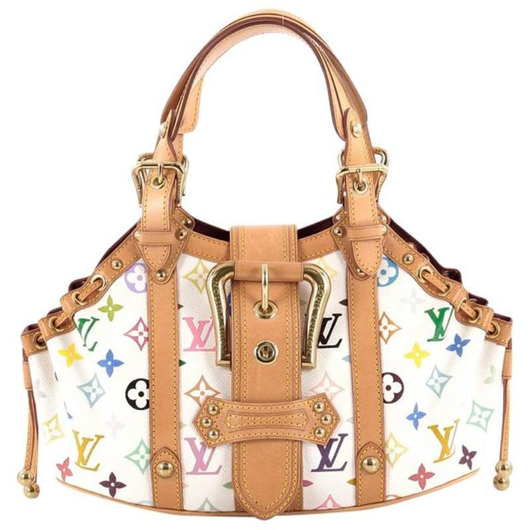 louis vuitton theda handbag monogram multicolor gm at 1stdibs