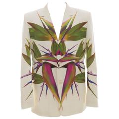 Givenchy By Riccardo Tisci Men's Birds Of Paradise Blazer, Spring - Summer 2012