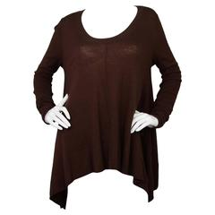 Donna Karan Brown Wool Over-sized Sweater Sz S