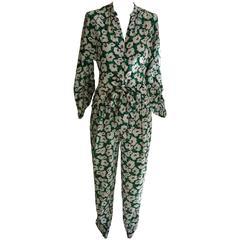 2016 Stella McCartney Silk Floral Print Jumpsuit NWT 38 (ITL)