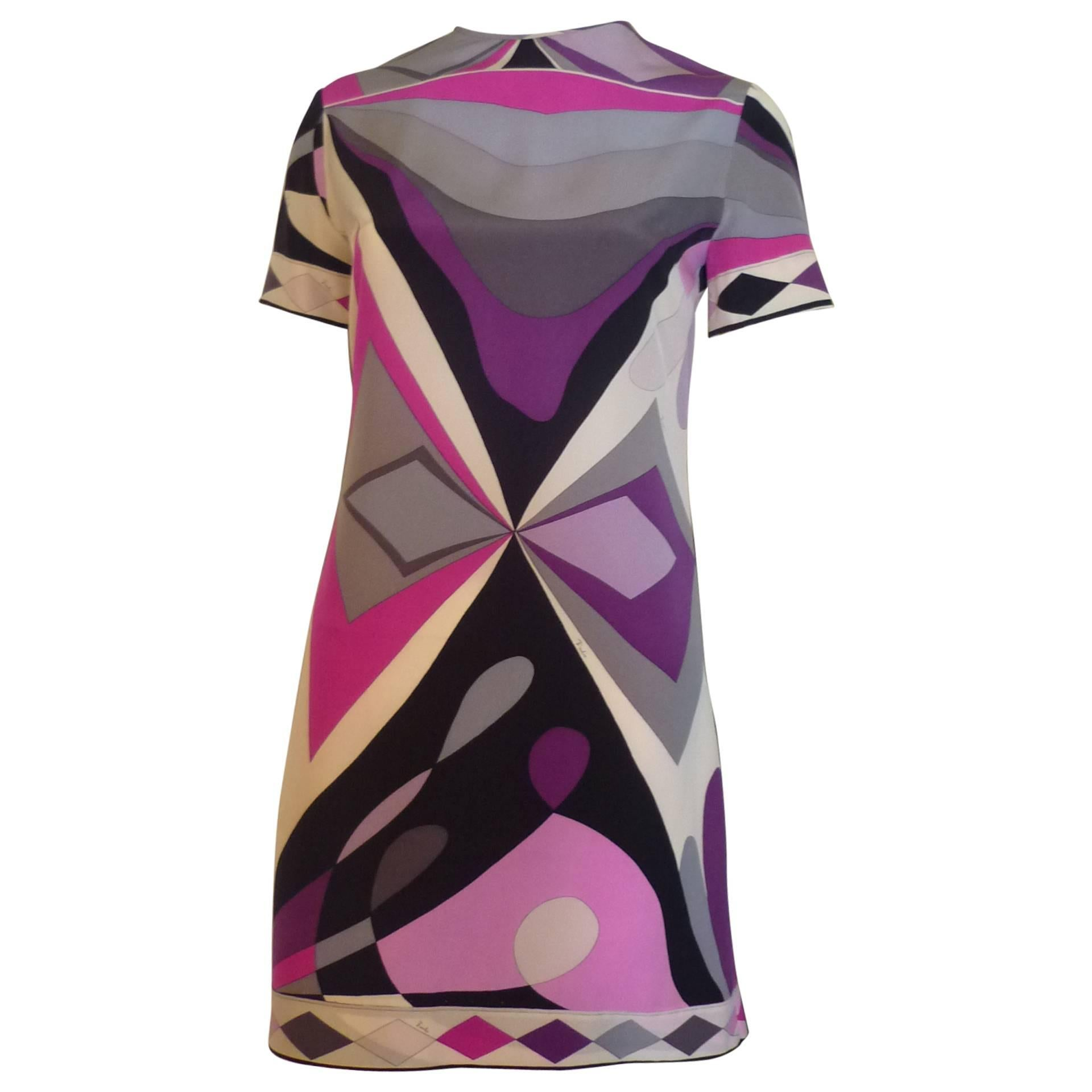 b0b008982f28 1960s Emilio Pucci Silk Mod Mini Dress at 1stdibs