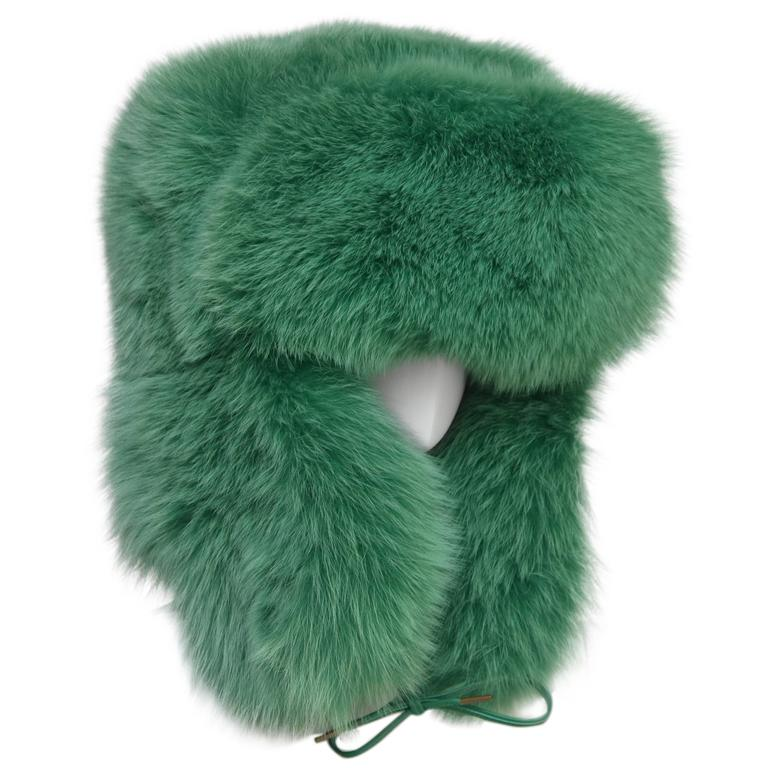 Rare Marc Jacobs Green Fox Fur Hat Lil Wayne Wore In His