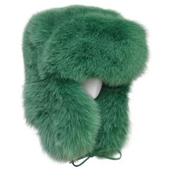 Rare Marc JACOBS Green Fox Fur Hat Lil Wayne Wore In His Music Video NEW