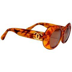 1980s Chanel Tortoiseshell Sunglasses