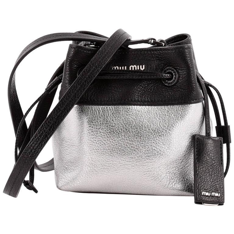 Miu Miu Bucket Bag Leather Small at 1stdibs 7f7b4273355f1