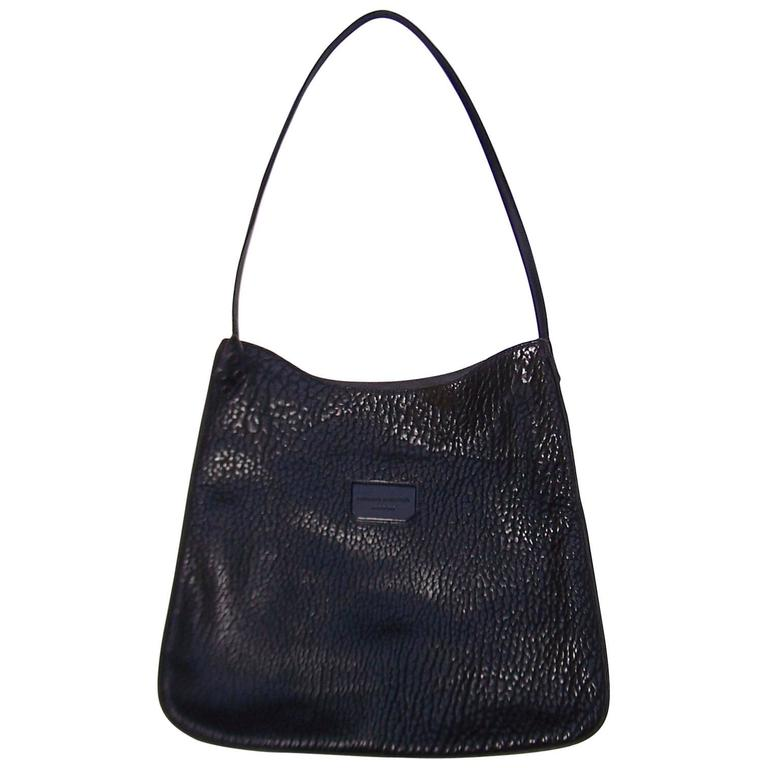 Contemporary Proenza Schouler Black Buffalo Hide Hobo Handbag