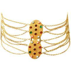 1970s Dior Corset Jeweled Belt