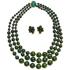 Hattie Carnegie Bakelite Bead Set