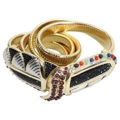 Judith Leiber Belt with Crystals and Cabochons