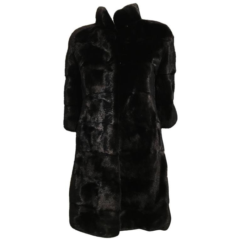 Fendi Black Mink Coat For Sale at 1stdibs