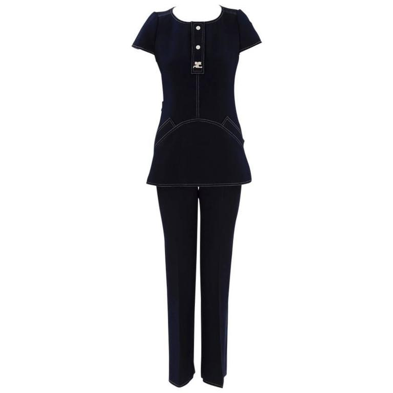 Numbered Courreges Couture Trousers Suit