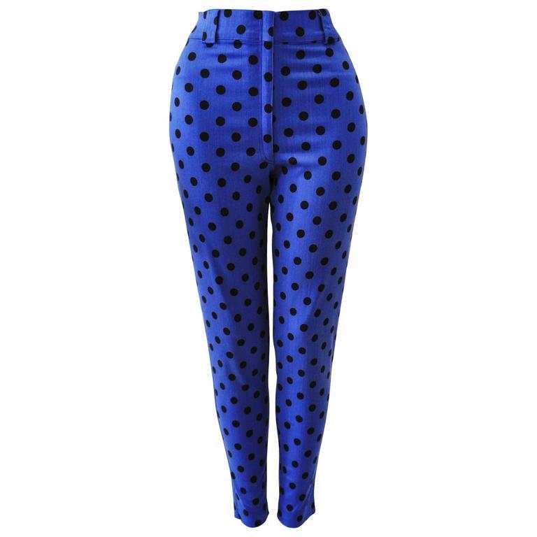 Gianni Versace High Waist Polka Dot Jeans Spring 1991