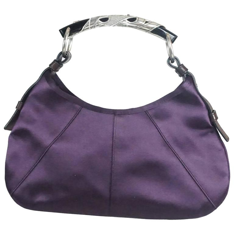 4dac847a70 Tom Ford for Yves Saint Laurent Purple Satin Mombasa Bag For Sale at ...