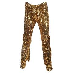 Vivienne Westwood gold sequinned evening pants, circa 2011