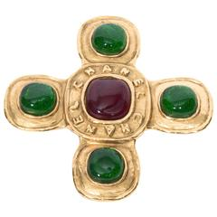 Chanel Byzantine Style Gripoix Brooch
