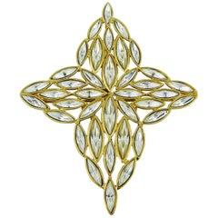Yves Saint Laurent YSL Vintage Jewelled Star Brooch Pendant