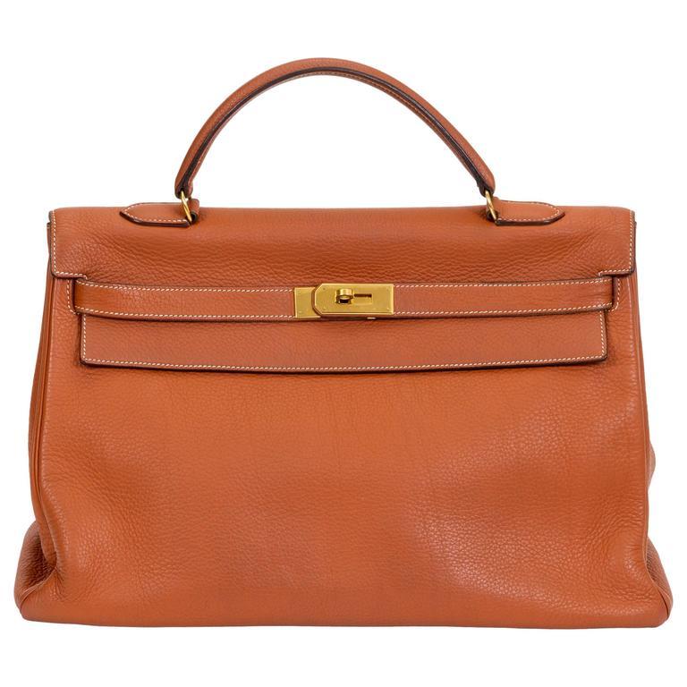 Hermès Kelly 40cm Etrusque Clemence Bag