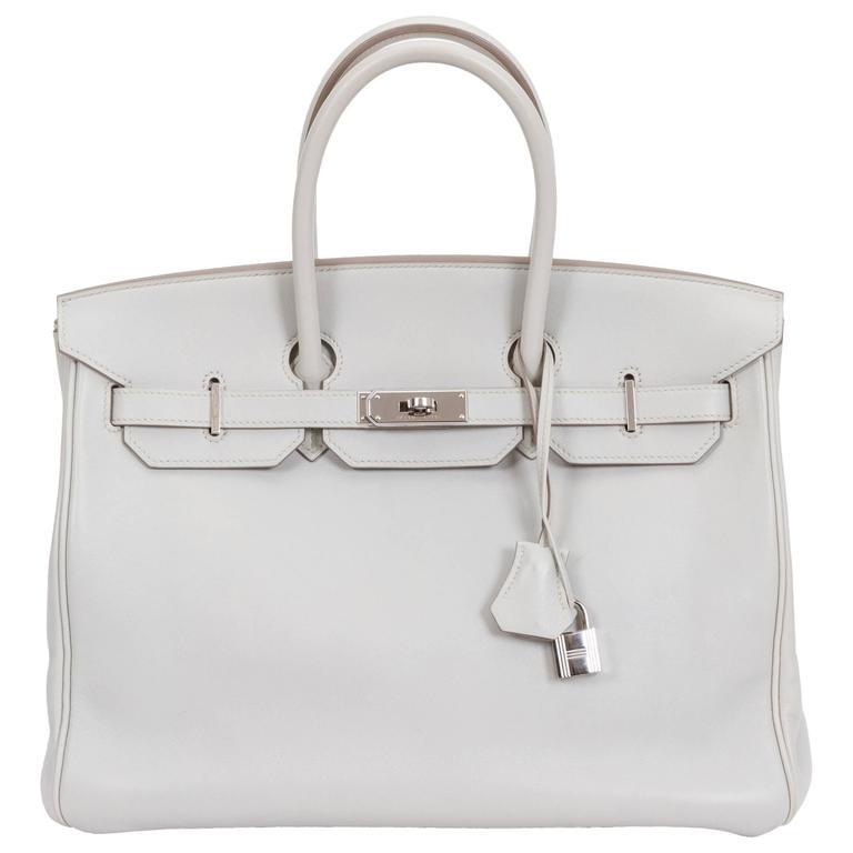 herm s birkin 35cm gris perle swift bag for sale at 1stdibs. Black Bedroom Furniture Sets. Home Design Ideas