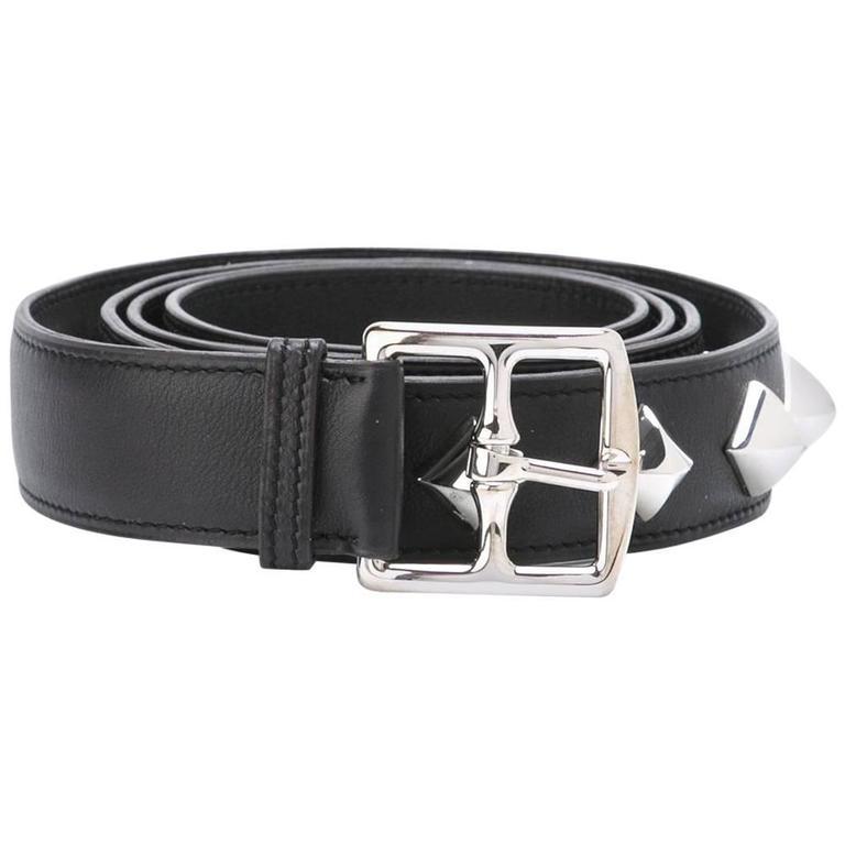 Hermes Studdes Belt For Sale