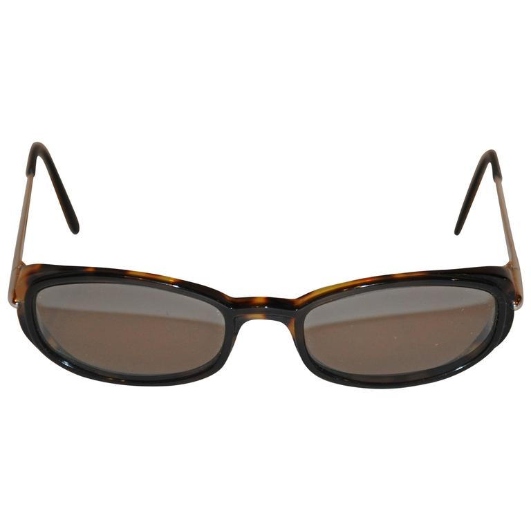 Cartier Tortoise Shell Accented with Silver Hardware Sunglasses