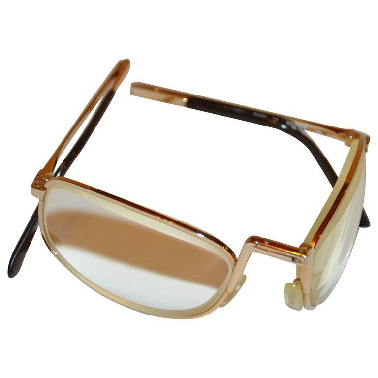 4938d933b4aa3 Christian Dior Foldable Gold Hardware Frame Eyeglasses at 1stdibs