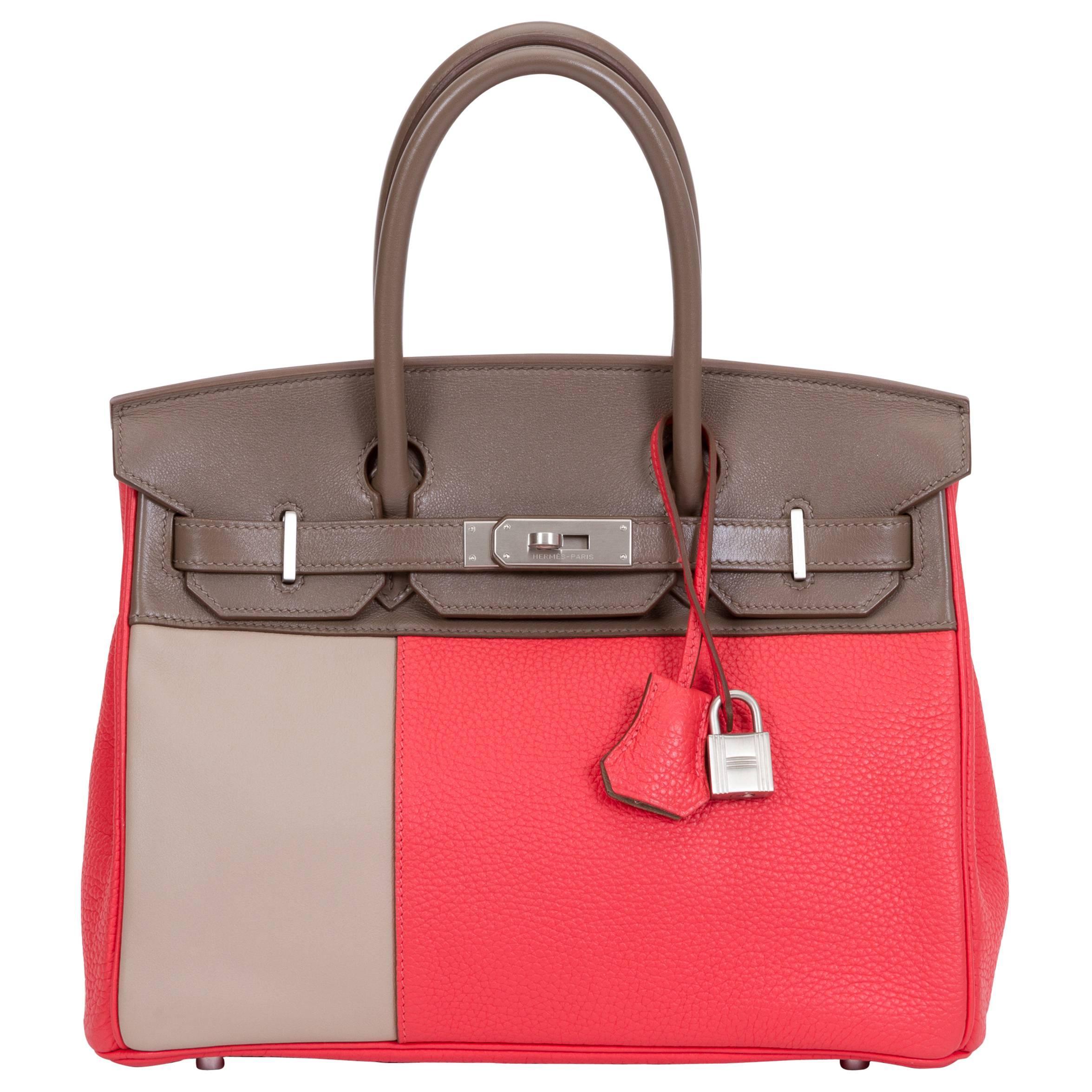 Hermès Limited Edition Birkin 30cm Tricolor Bag