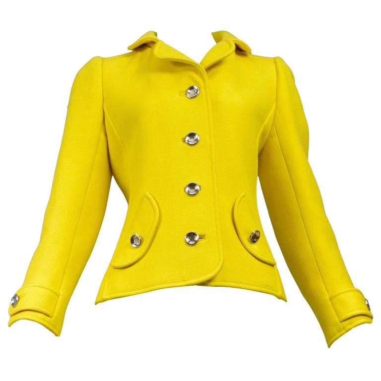 Courreges Yellow Metal Button Jacket 1