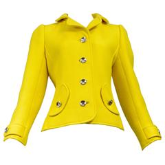 Courreges Yellow Metal Button Jacket