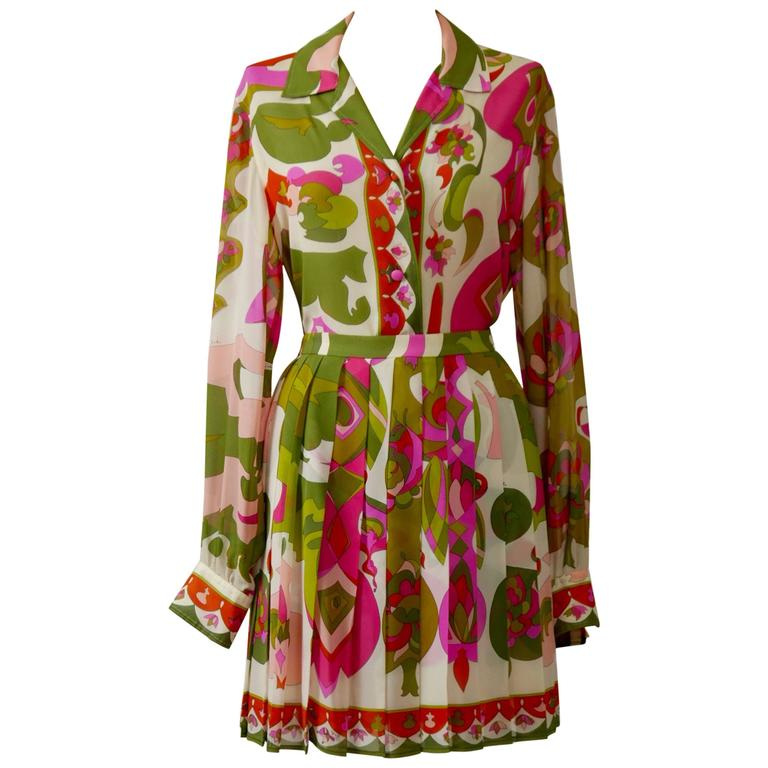 1970s EMILIO PUCCI Silk Suit Dress 1