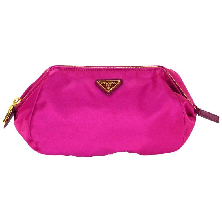 30cbb6a47baf Prada Fuchsia Nylon Makeup Pouch Bag For Sale at 1stdibs